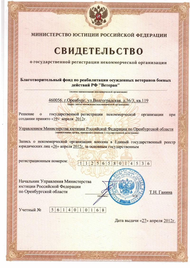 документы для открытия некоммерческой негосударственной организации